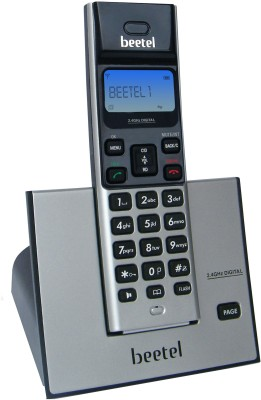 Beetel X62 Cordless Landline Phone(Black & Silver)