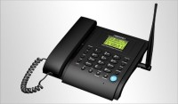 VisionTek Fixed Wireless Phone 21G Corded Landline Phone with Answering Machine(Black)
