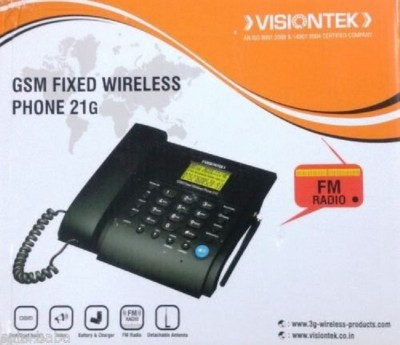 Visiontek Fixed Wireless Phone 21G Corded Landline Phone with Answering Machine