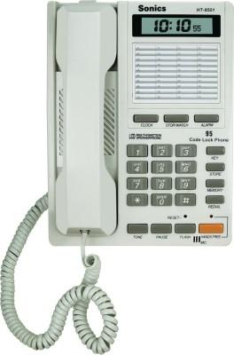 Sonics HT-9501 Corded Landline Phone(White)