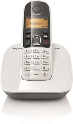 Gigaset A490 Cordless Landline Phone(White)