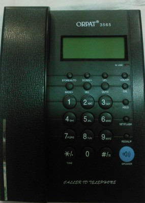 Orpat 3565 Corded Landline Phone(Full Black)