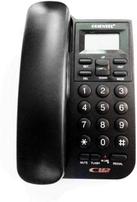 Italish Black Landline Telephone Corded Landline Phone(Black)