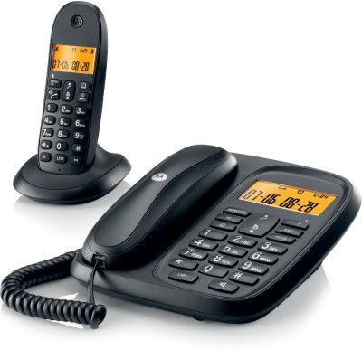 Motorola Cl101 Black Corded & Cordless Landline Phone(Black)