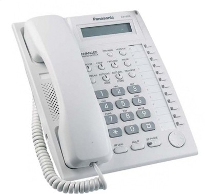 Panasonic KX-T7730X Corded Landline Phone with Answering Machine(White)