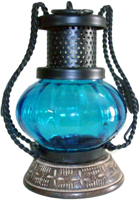 The Woods Hut Blue Iron Lantern(17.78 cm X 12.7 cm, Pack of 1)