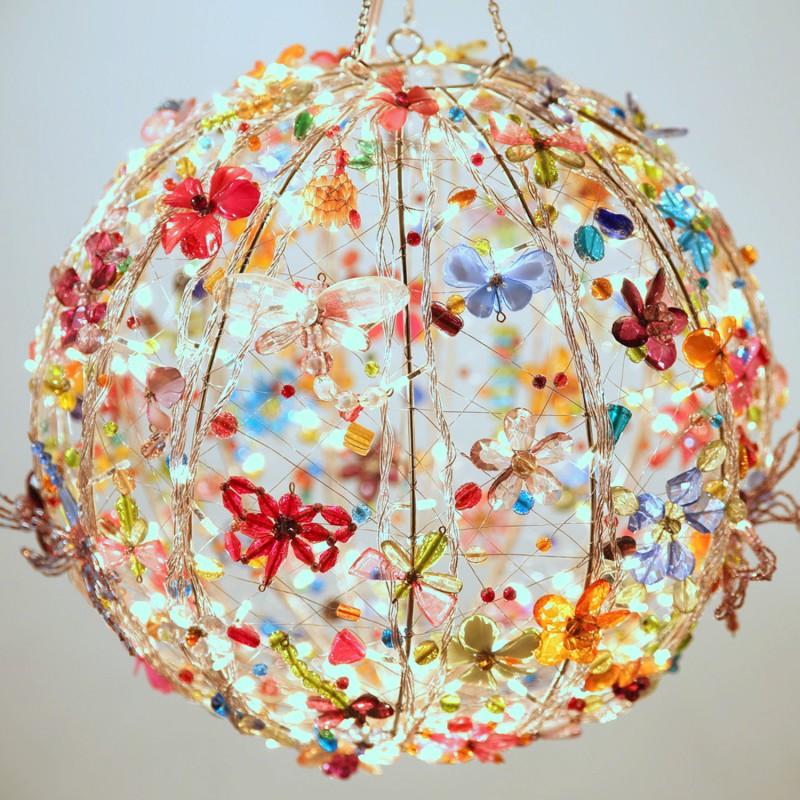 Kanhai Enchanting Multicolor Stainless Steel Lantern(38 cm X 38 cm)