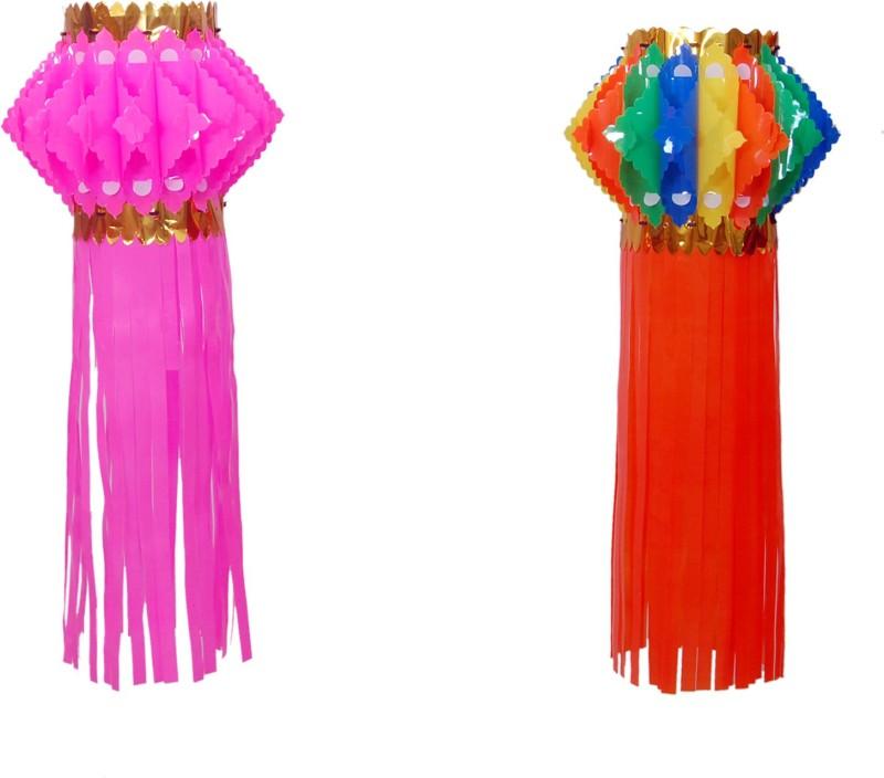Cretiv Pink, Multicolor Plastic Lantern(50 cm X 25 cm, Pack of 2)