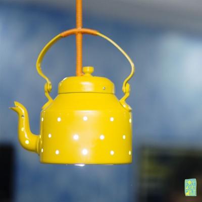 Tappu Ki Dukaan Yellow Aluminium Lantern