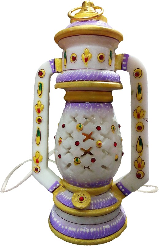 Excellent Enterprises Multicolor Marble Lantern(20 cm X 10 cm, Pack of 1)