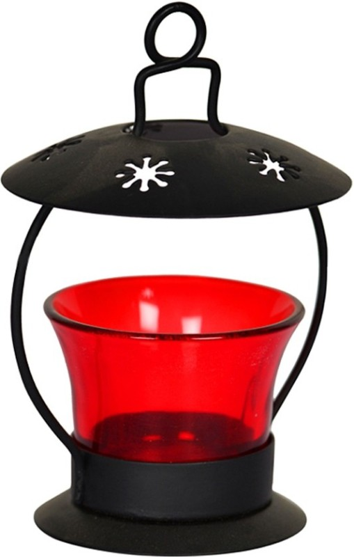 AY Black Iron Lantern(12.9 cm X 8.6 cm, Pack of 1)