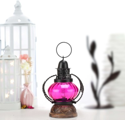 Sajja Craft Purple Glass Lantern