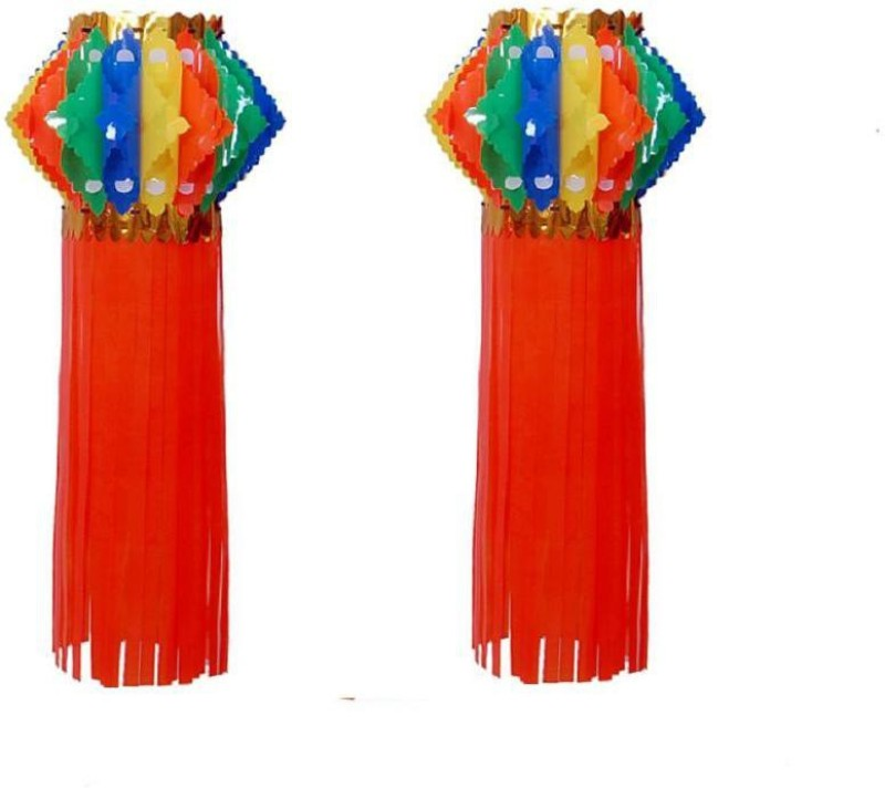 Cretiv Multicolor Plastic Lantern(50 cm X 25 cm, Pack of 2)
