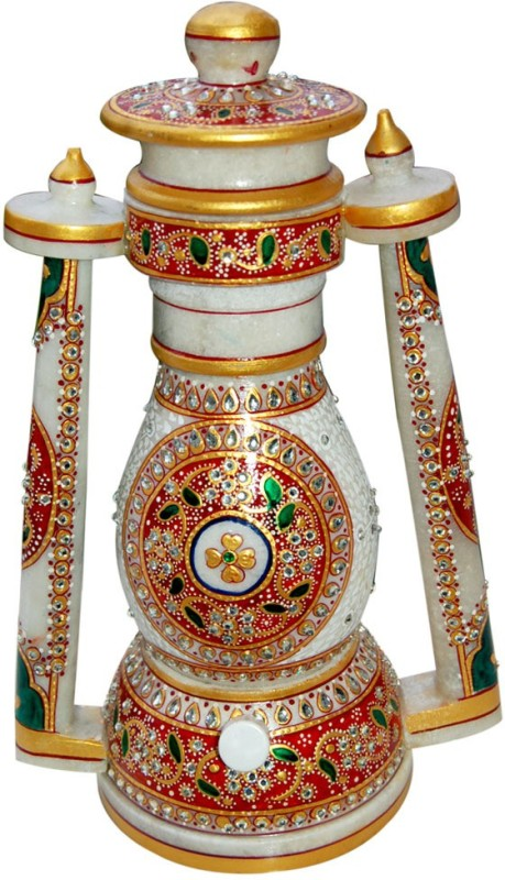 GS Museum Classic Meenakari Crafted Multicolor Marble Lantern(30.48 cm X 12.7 cm, Pack of 1)
