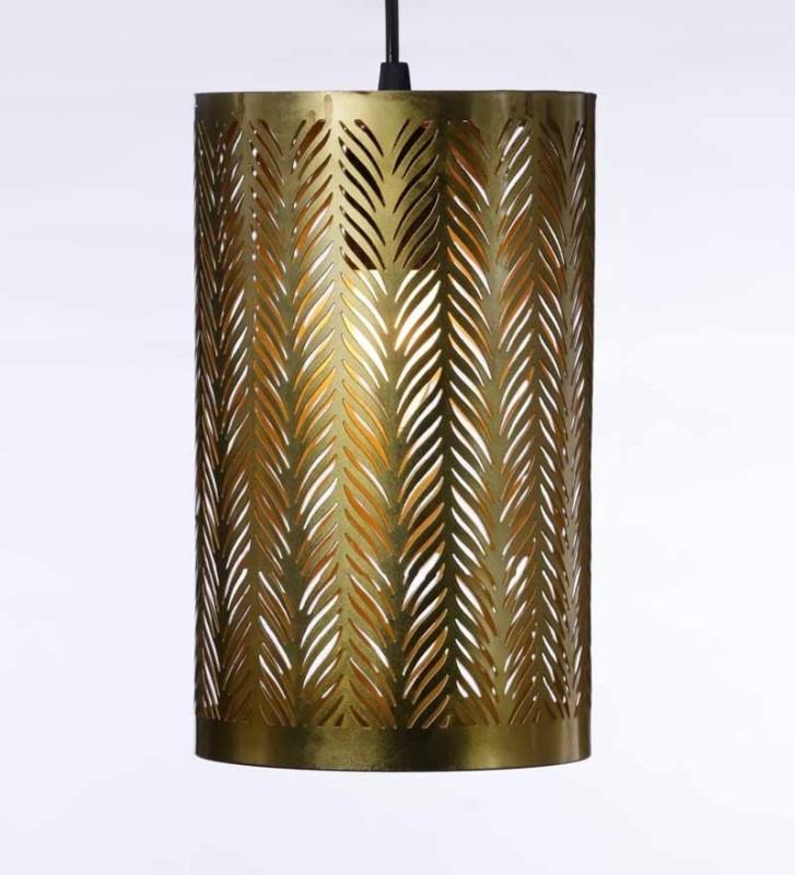 Tezerac Gold Iron Lantern(30.23 cm X 17.78 cm, Pack of 1)