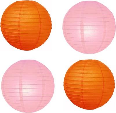 Santa Stores Chinese Orange, Pink Paper Lantern