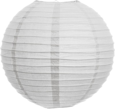 Skycandle 10″ White Even Ribbing Round White Paper Lantern