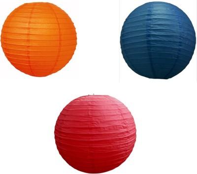 Santa Stores Chinese Blue, Orange, Red Paper Lantern