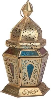 vintage art and crafts Multicolor Iron Lantern