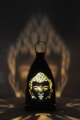 Sutra Decor Buddha Black Iron Lantern