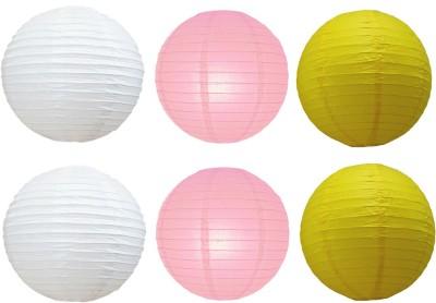 Santa Stores Chinese White, Yellow, Pink Paper Lantern