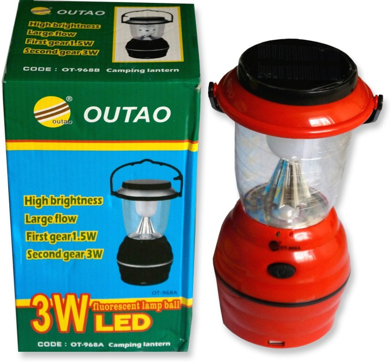 OUTAO Red, Black Plastic Lantern(25 cm X 8 cm, Pack of 1)
