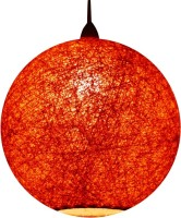 Salebrations Handmade Orange Cotton Lantern(25 cm X 25 cm, Pack of 1)
