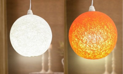 Skywoods White, Orange Nylon Lantern