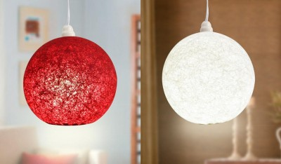 Skywoods Red, White Nylon Lantern