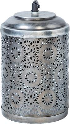 Peacock Life Silver Steel Lantern