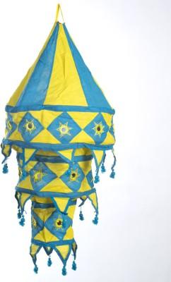Smile2u Retailers Rajasthani Embroidered Fabric Blue, Yellow Cotton Lantern