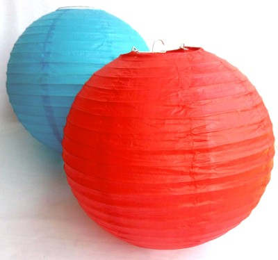 Skycandle Blue, Red Paper Lantern