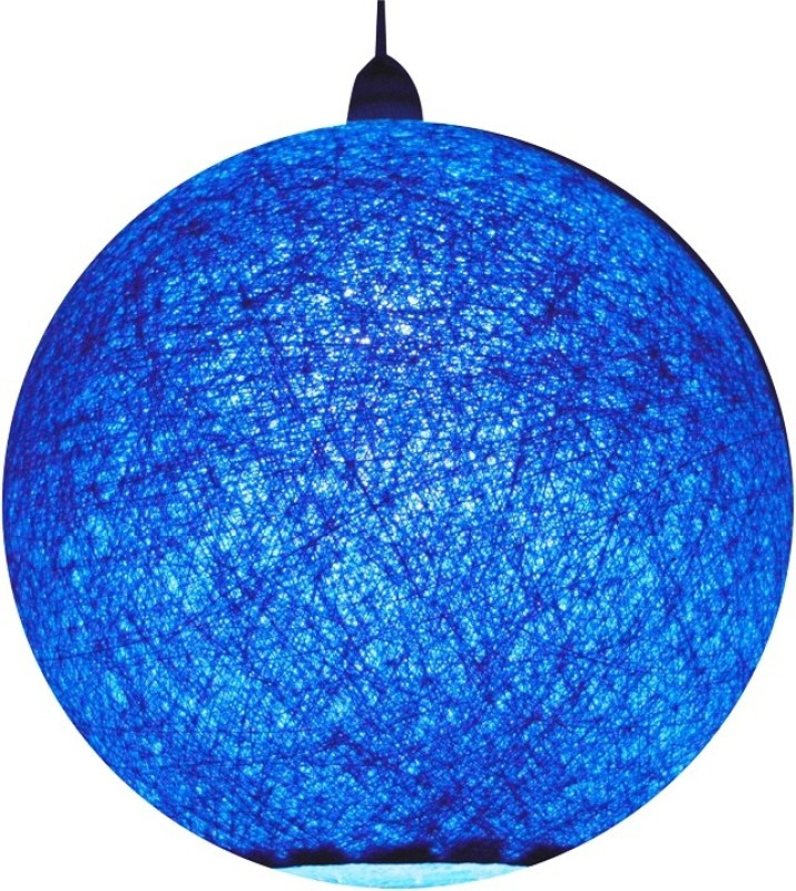 Salebrations Handmade Blue Cotton Lantern(25 cm X 25 cm, Pack of 1)