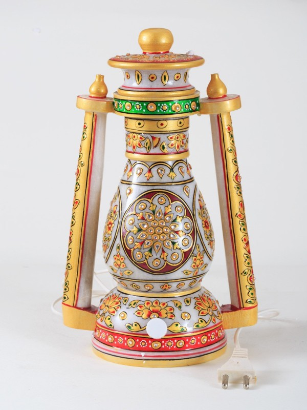 Indyhaat Multicolor Marble Lantern(30.48 cm X 12.7 cm, Pack of 1)