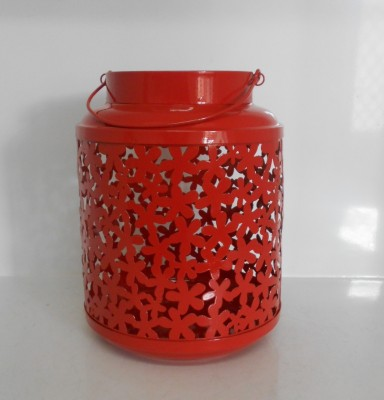 ShellysTrends Red Iron Lantern