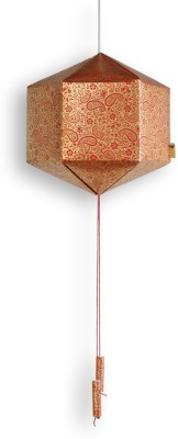 Brownfolds Red, Gold Paper Lantern