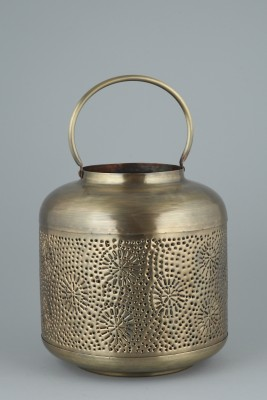 ShellysTrends Gold Iron Lantern