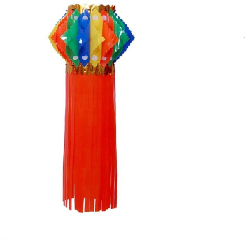 Cretiv Multicolor Plastic Lantern(50 cm X 25 cm, Pack of 1)