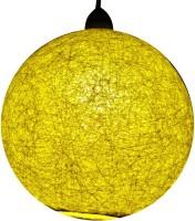 Salebrations Handmade Yellow Cotton Lantern(25 cm X 25 cm, Pack of 1)