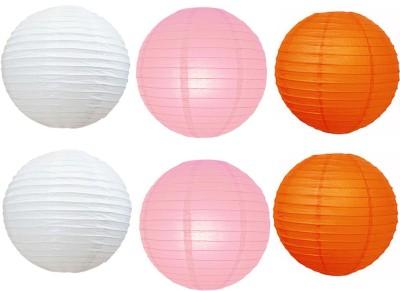 Santa Stores Chinese White, Pink, Orange Paper Lantern