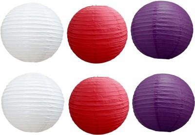 Santa Stores Chinese Red, Purple, White Paper Lantern