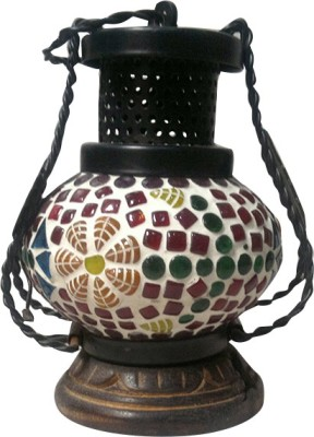 Asma Collection Multicolor Wooden, Iron, Glass Lantern