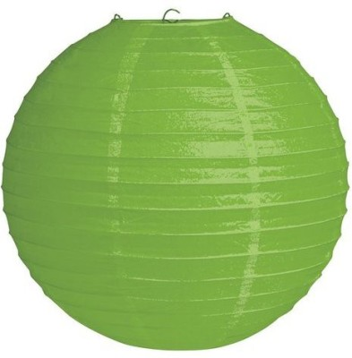 Skycandle 12″ Green Round Paper Craft Green Paper Lantern