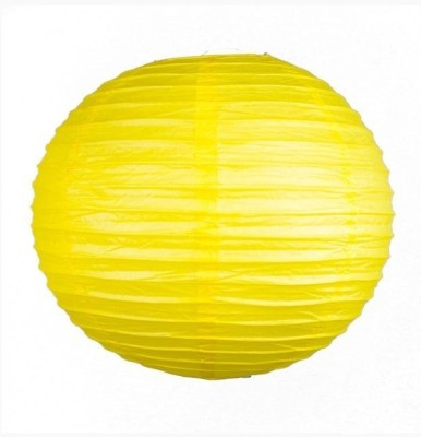 Skycandle 10″ Yellow Even Ribbing Round Yellow Paper Lantern