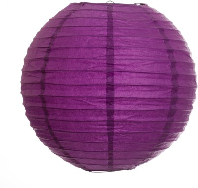 Skycandle 14″ Purple Even Ribbing Round Purple Paper Lantern