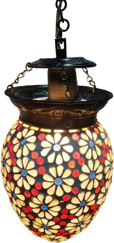 Weldecor Antiqua Brasso Stars Multicolor Brass, Aluminium Lantern(60 cm X 15 cm)