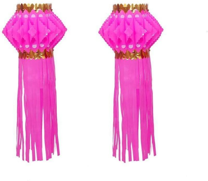 Cretiv Pink Plastic Lantern(50 cm X 25 cm, Pack of 2)