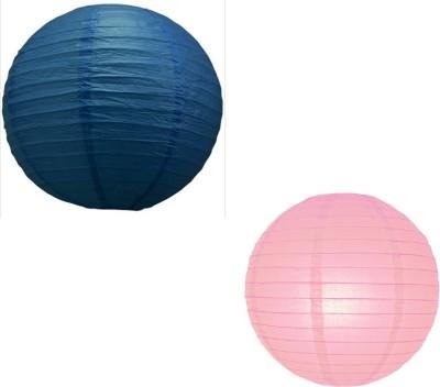Santa Stores Chinese Blue, Pink Paper Lantern
