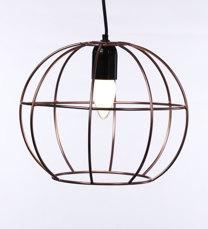 Tezerac Brown Iron Lantern(20.32 cm X 25.4 cm, Pack of 1)