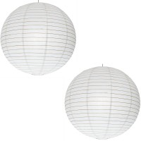 SantaStores Chinese White Paper Lantern(35 cm X 35 cm, Pack of 2)